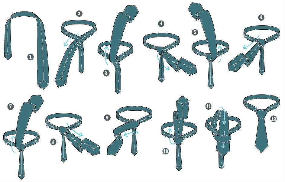 Инструкции по завязыванию галстука