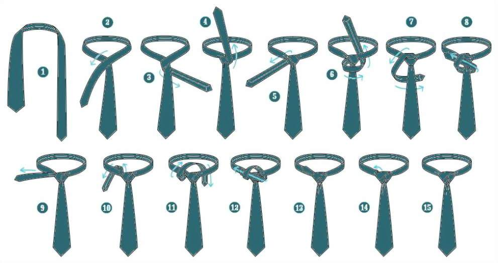 как завязывать галстук узлом элдридж