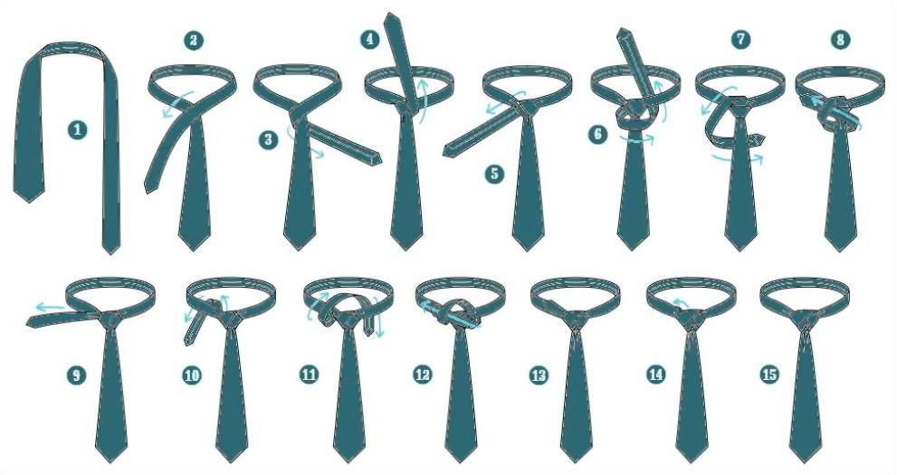 галстук: узел Элдридж