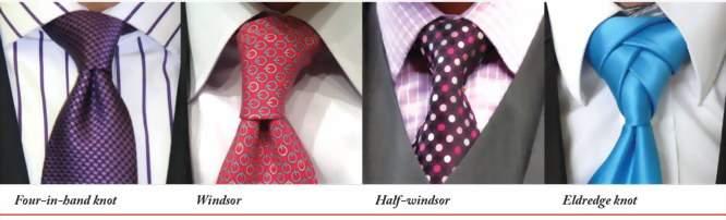 Как завязывать галстук - разные узлы