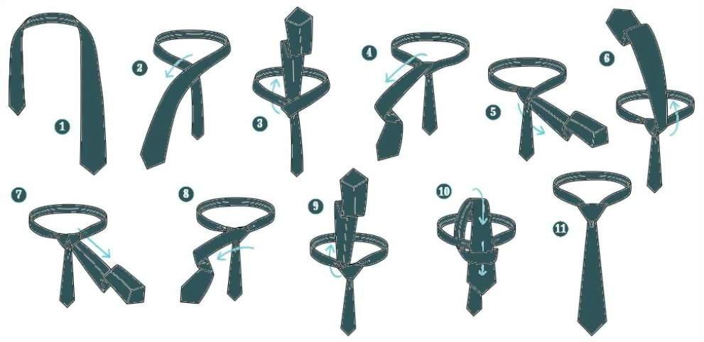 Инструкция по завязыванию галстука узлом Виндзор