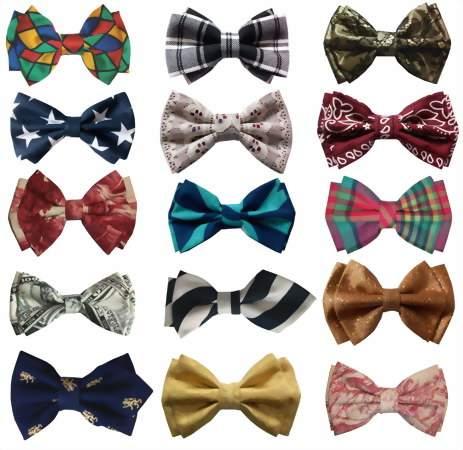 разные виды галстука бабочки