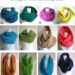 12 способов завязать шарф инфинити