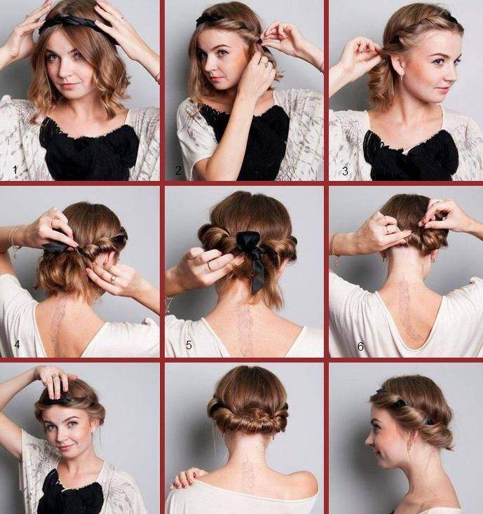 Как сделать греческую прическу на короткие волосы