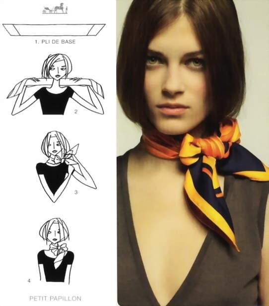как завязать шарф бабочка