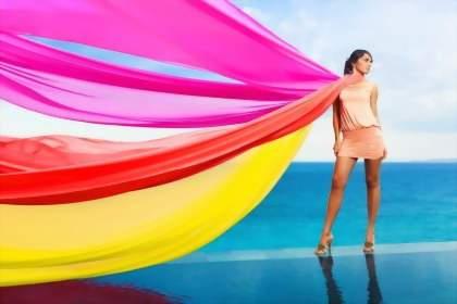 как завязать шарф радуга