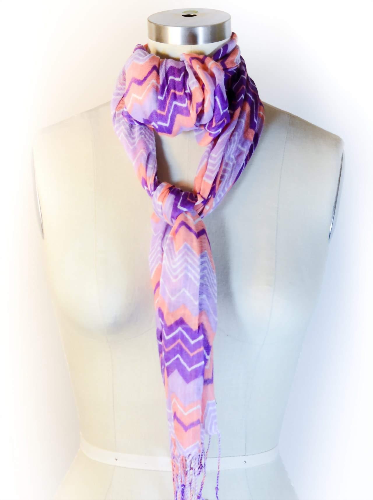 как завязать шарф узлом боа