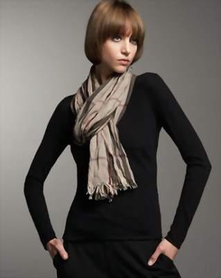 легкий узел для шарфа