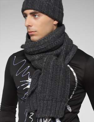 стильный узел для шарфа