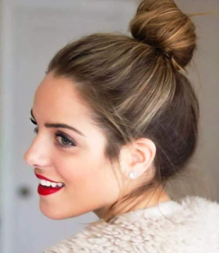 Как сделать пучок на средние волосы