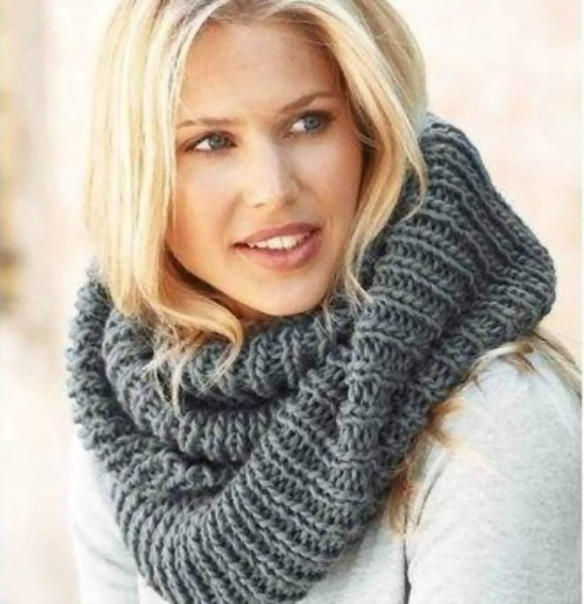 Шикарный вязанный шарф.