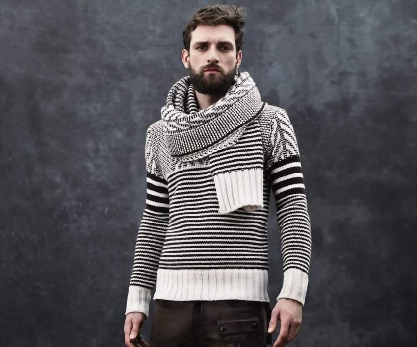 мужской шарф хомут