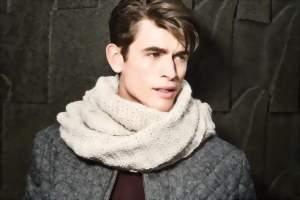 как носить мужской шарф