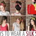 Варианты шарфа на голову