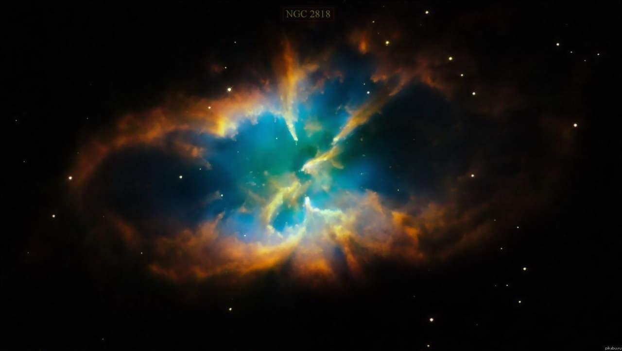 туманность NGC-2818 в форме бабочки