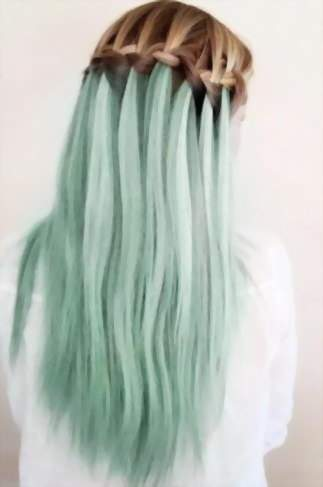 водопад - коса с колорированием