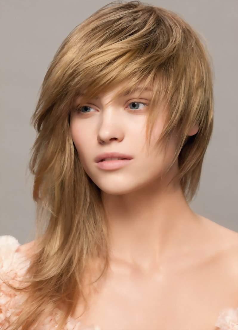 Стрижки на длинные волосы 2017 женские с челкой косой