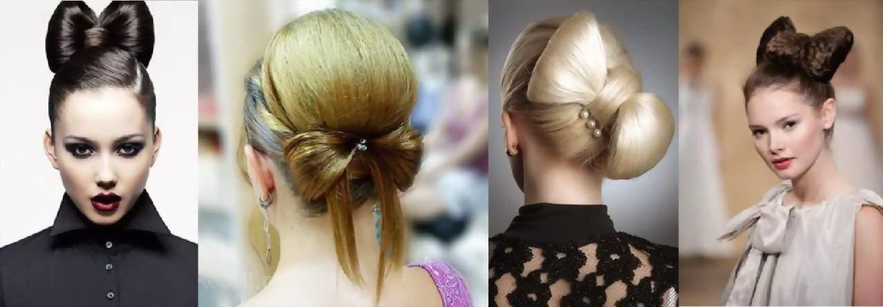 Как сделать бант из волос варианты