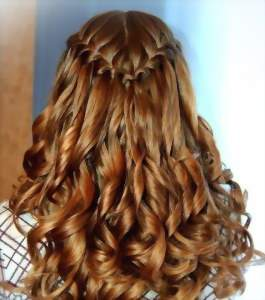 """Прическа водопад, французская коса, она же Прическа """"Французский водопад"""""""