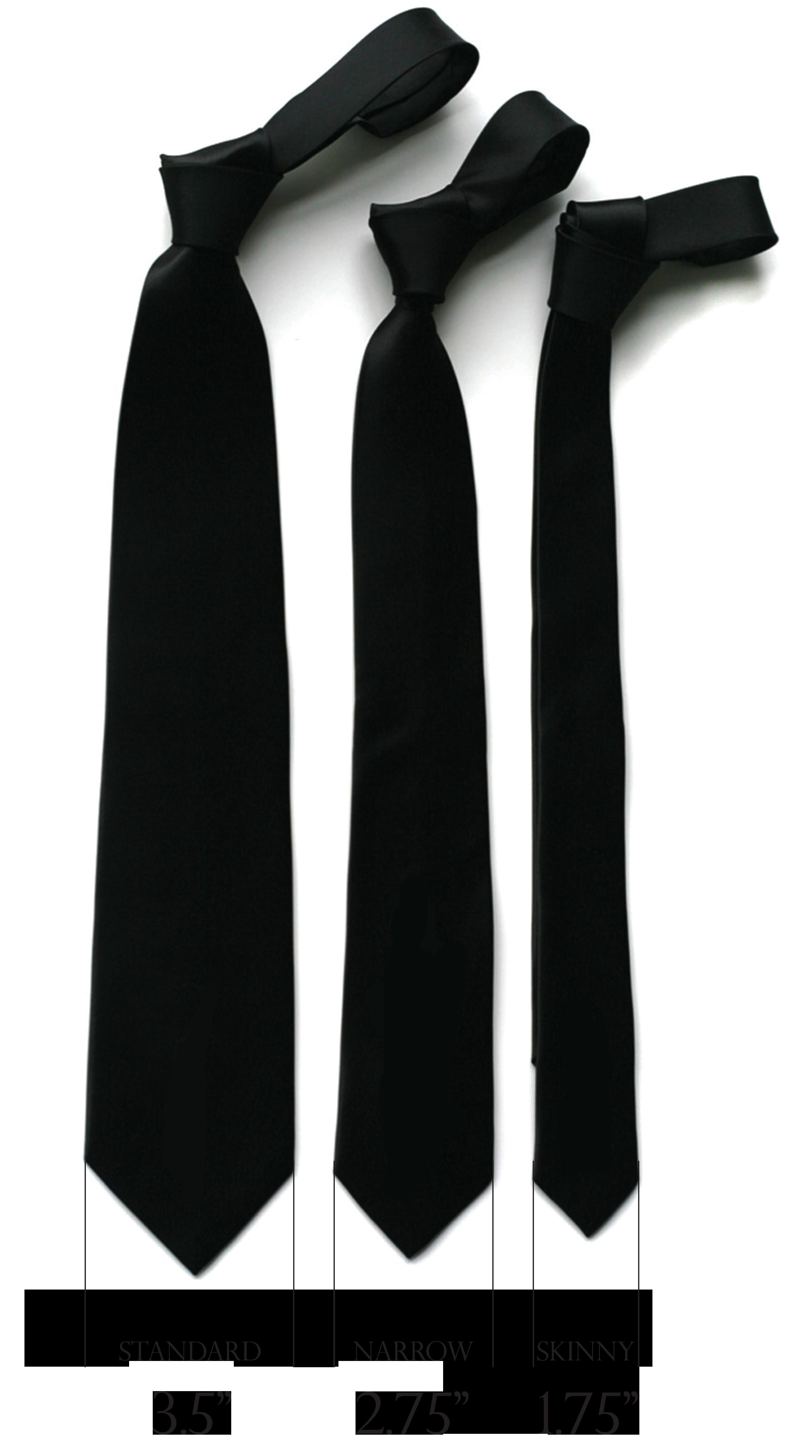 ширина галстука