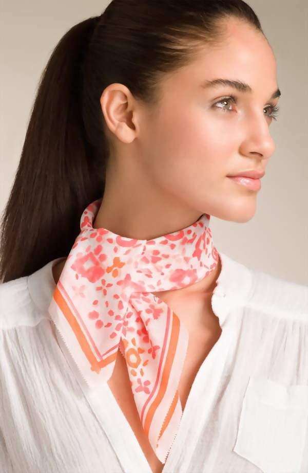 как правильно завязать шарф в офис
