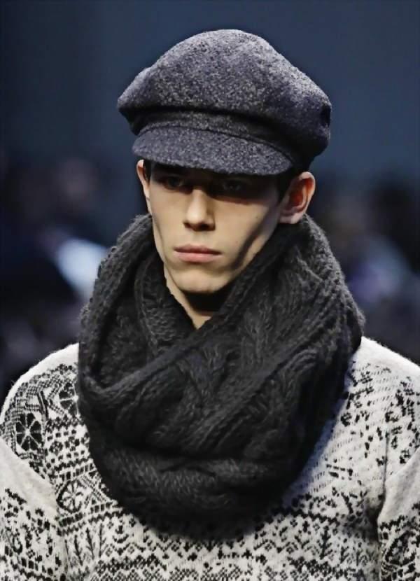 способы завязывания мужского шарфа