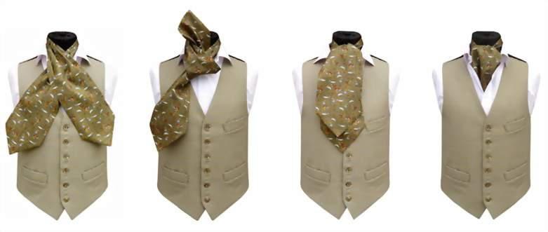 как завязать шарф на узел Аскот