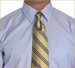 узел Ориентал на широком тонком галстуке