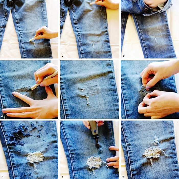 Порванные джинсы
