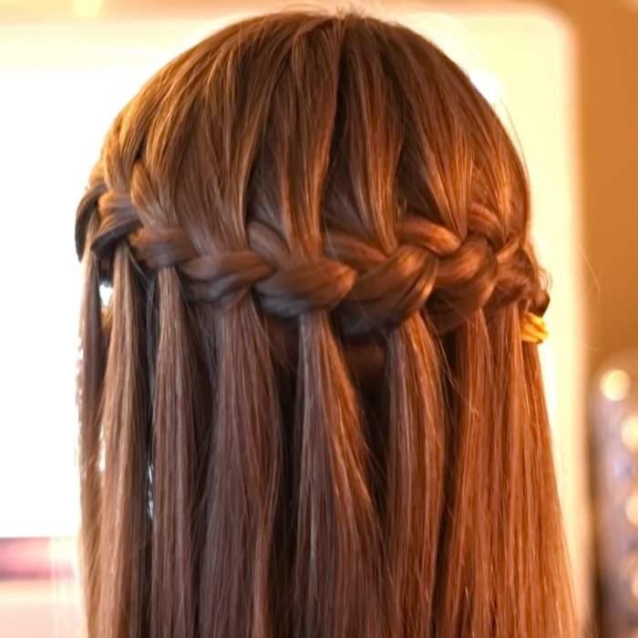 простые косы на длинные волосы - КОСА ФРАНЦУЗСКИЙ ВОДОПАД