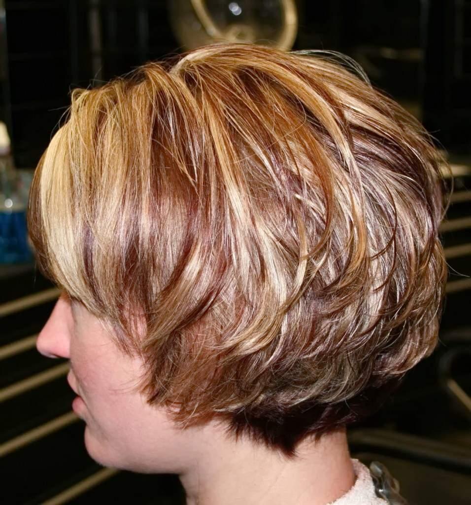 Стрижка боб каскад на короткие волосы фото