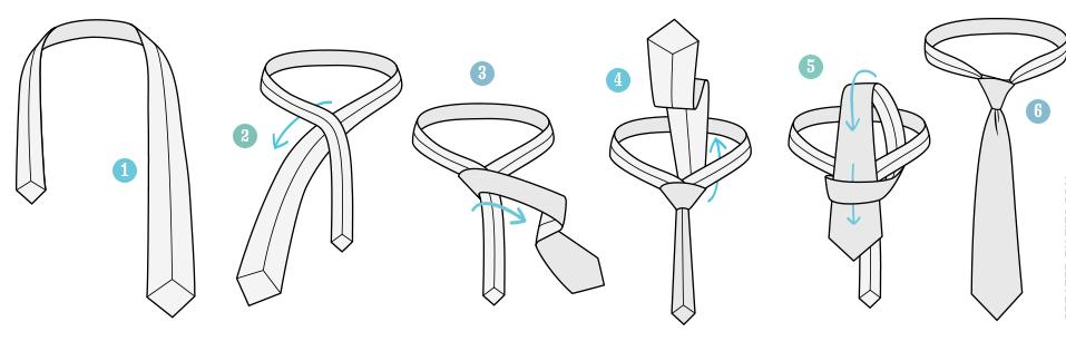 Инструкция по завязыванию галстука Oriental
