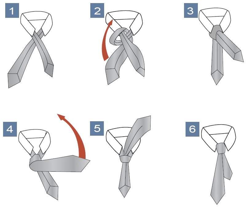 Схема как завязать узел Пратт (Шелби)