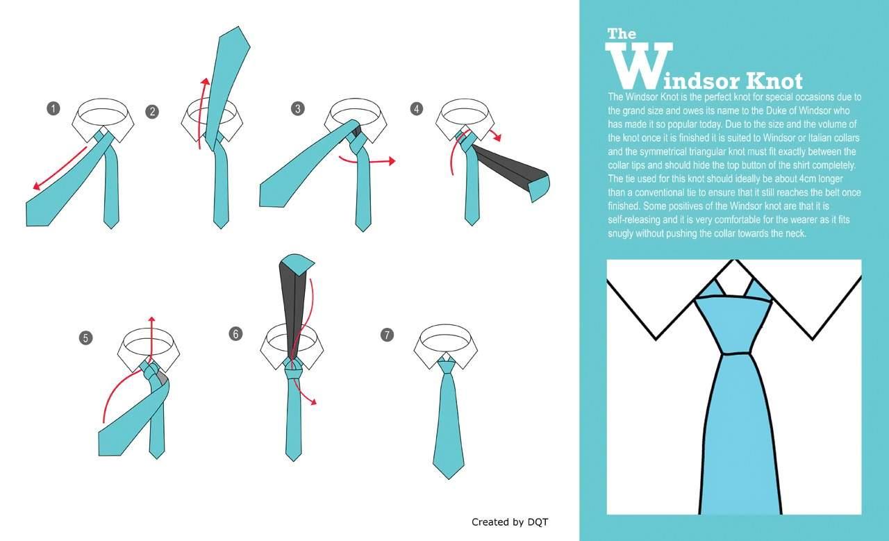 Винзорский узел - схема завязывания