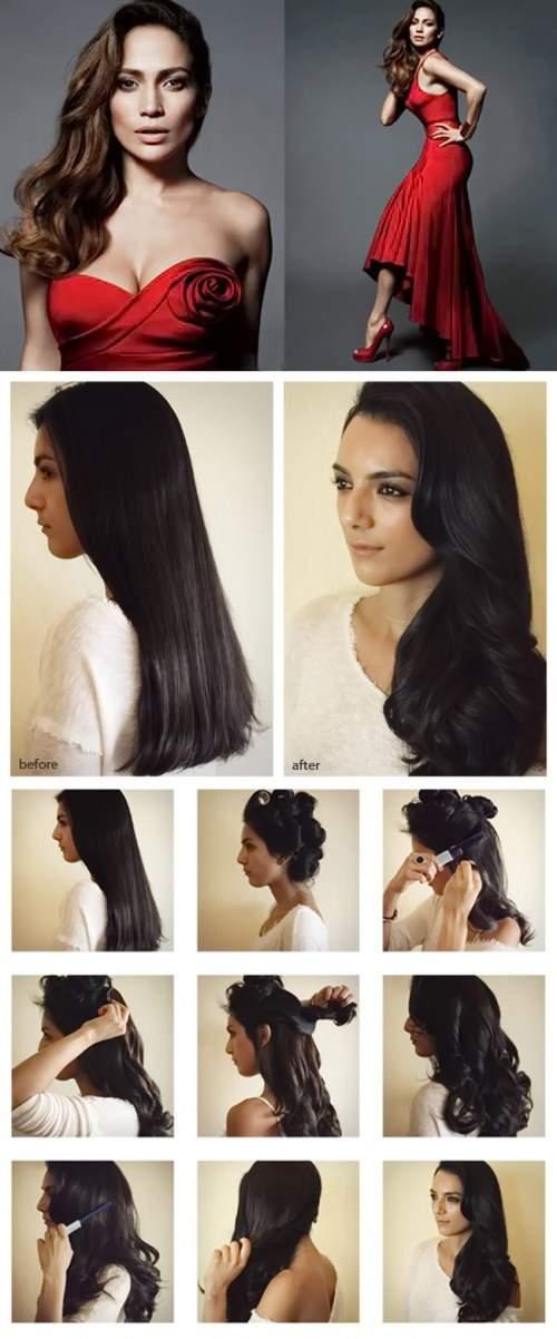 как накрутить волосы локонами на бигуди