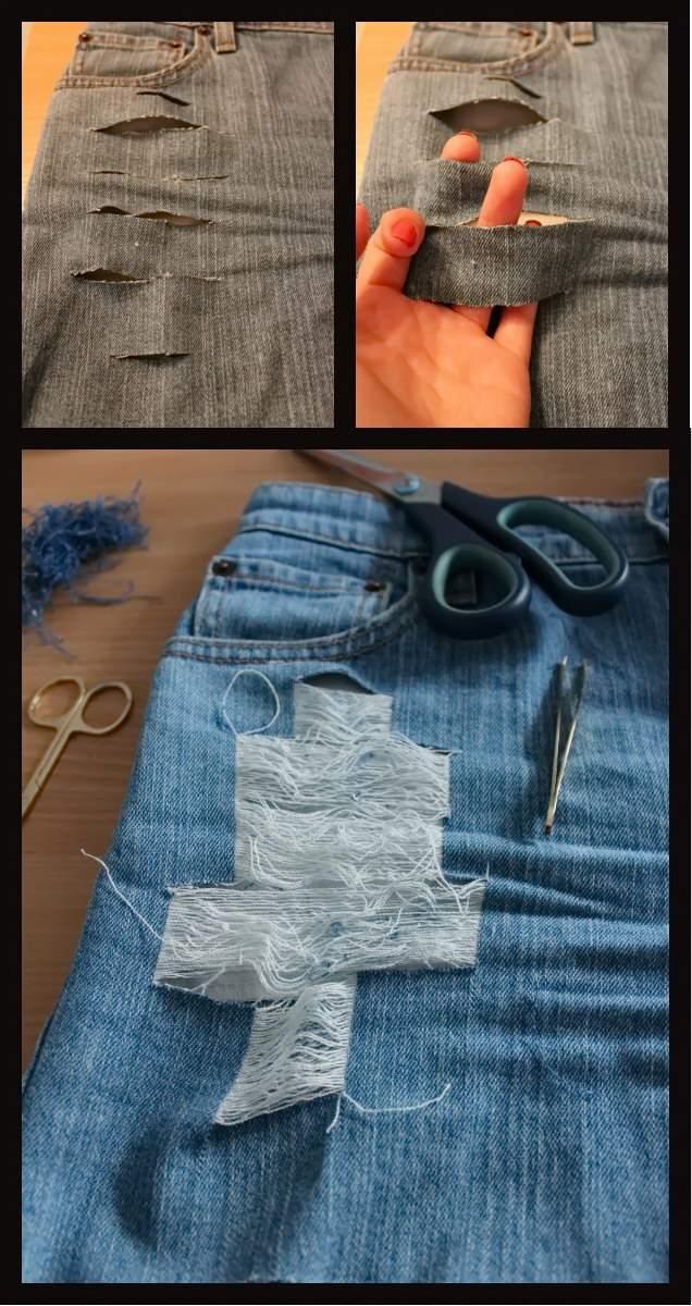 Модные рваные джинсы - тренд многих лет.