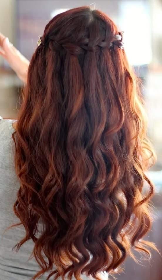 прически для длинных волос на каждый день - ВЫСОКИЙ ДЛИННЫЙ ФРАНЦУЗСКИЙ ВОДОПАД