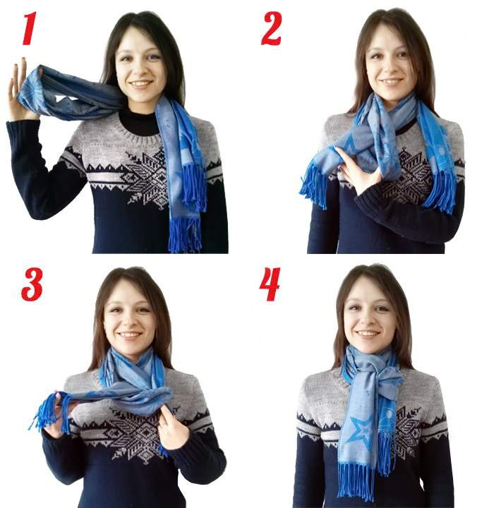 как красиво завязать шарфик