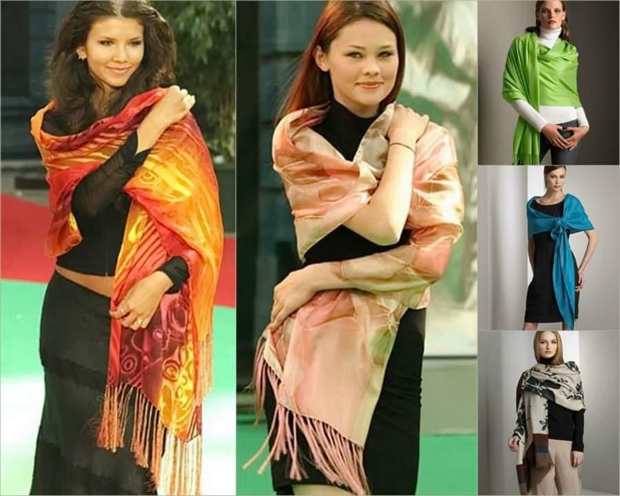 как одевать шарф