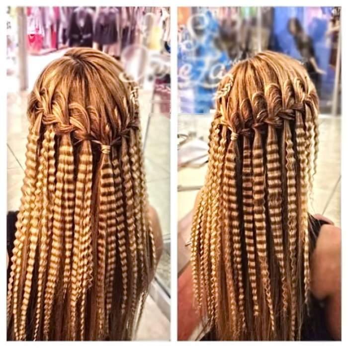 прическа на каждый день на длинные волосы - ОРИГИНАЛЬНЫЙ ВАРИАНТ ФРАНЦУЗСКОГО ВОДОПАДА