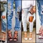 как сделать красивые дырки на джинсах