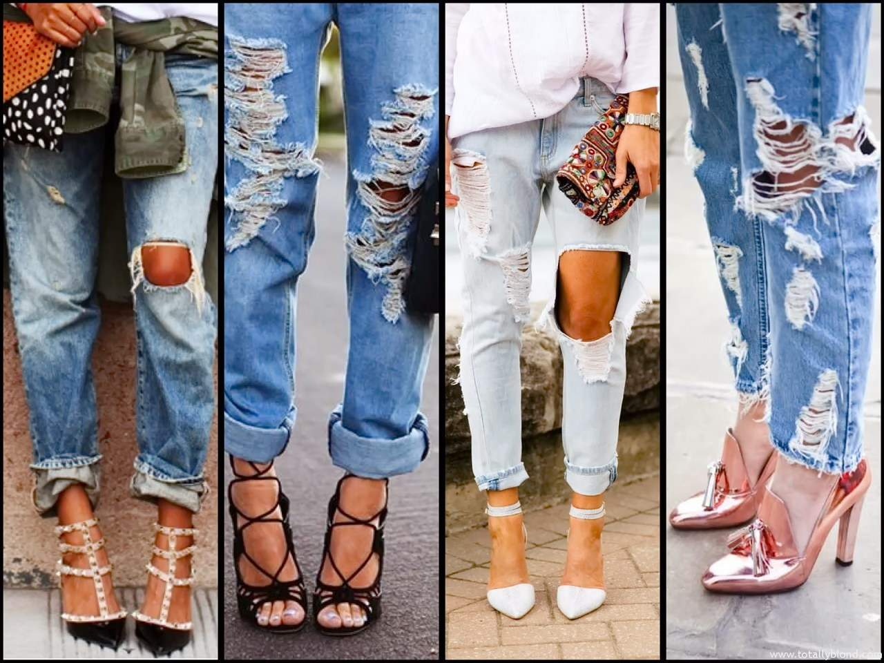 Как правильно сделать дырки на джинсах коленки