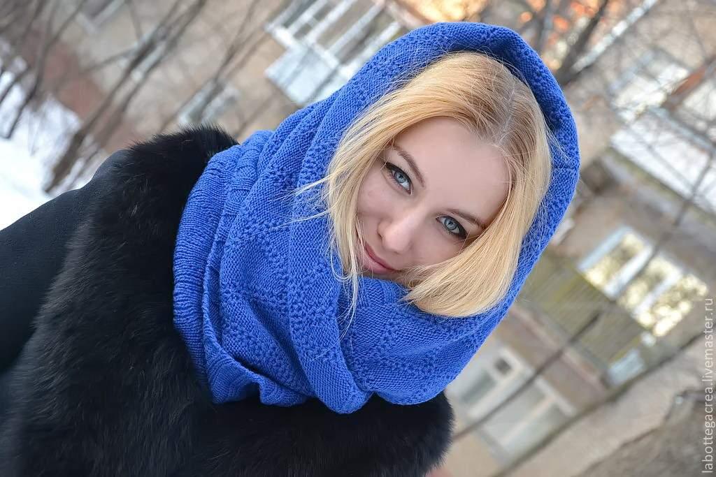 шарф на голову