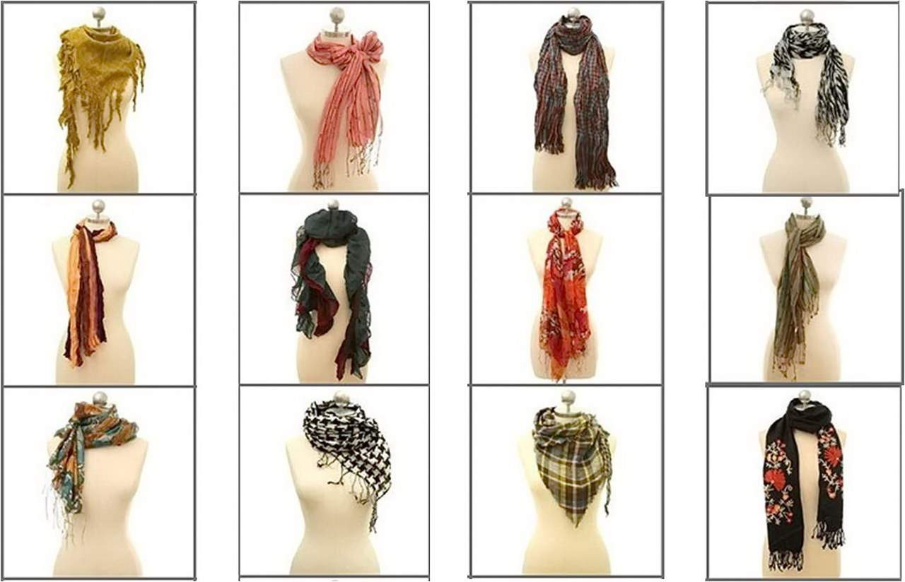 шарфы на шею