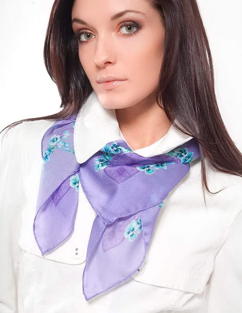 шелковый платок на шею