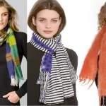 варианты как носить шарф