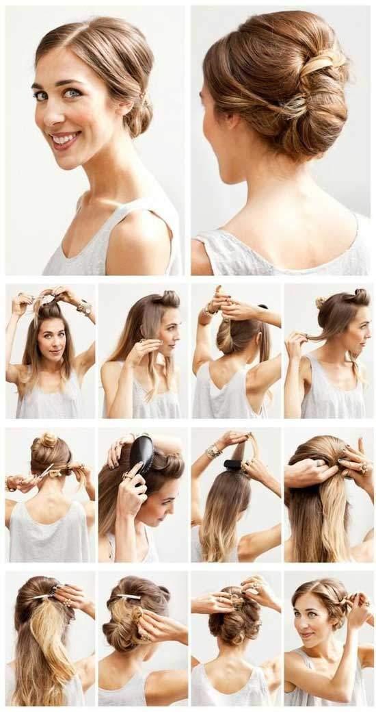 Последовательность укладки на длинные волосы