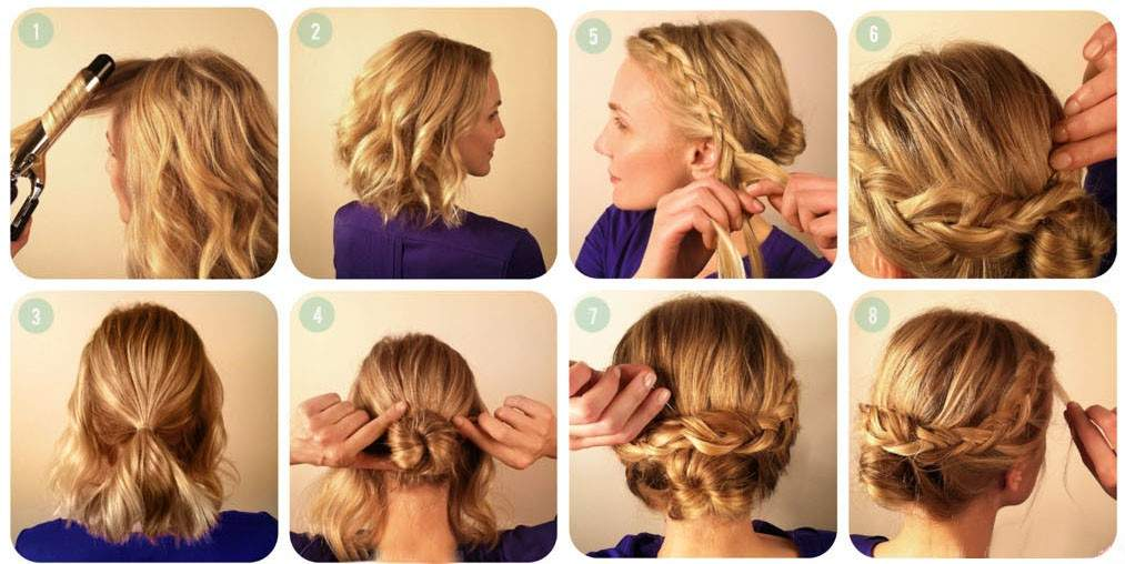 Коса из трех прядей для волос средней длинны