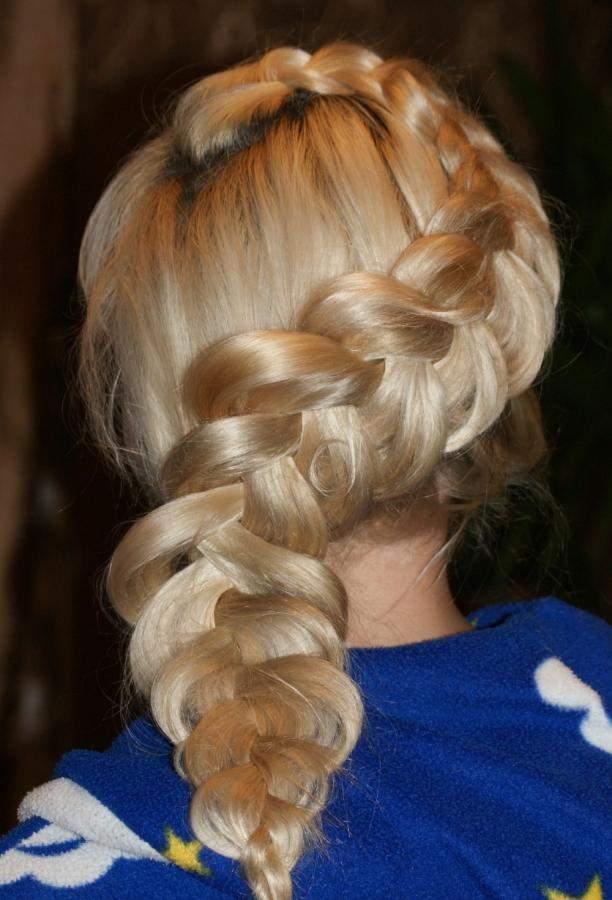 Прически из кос: французская коса наоборот