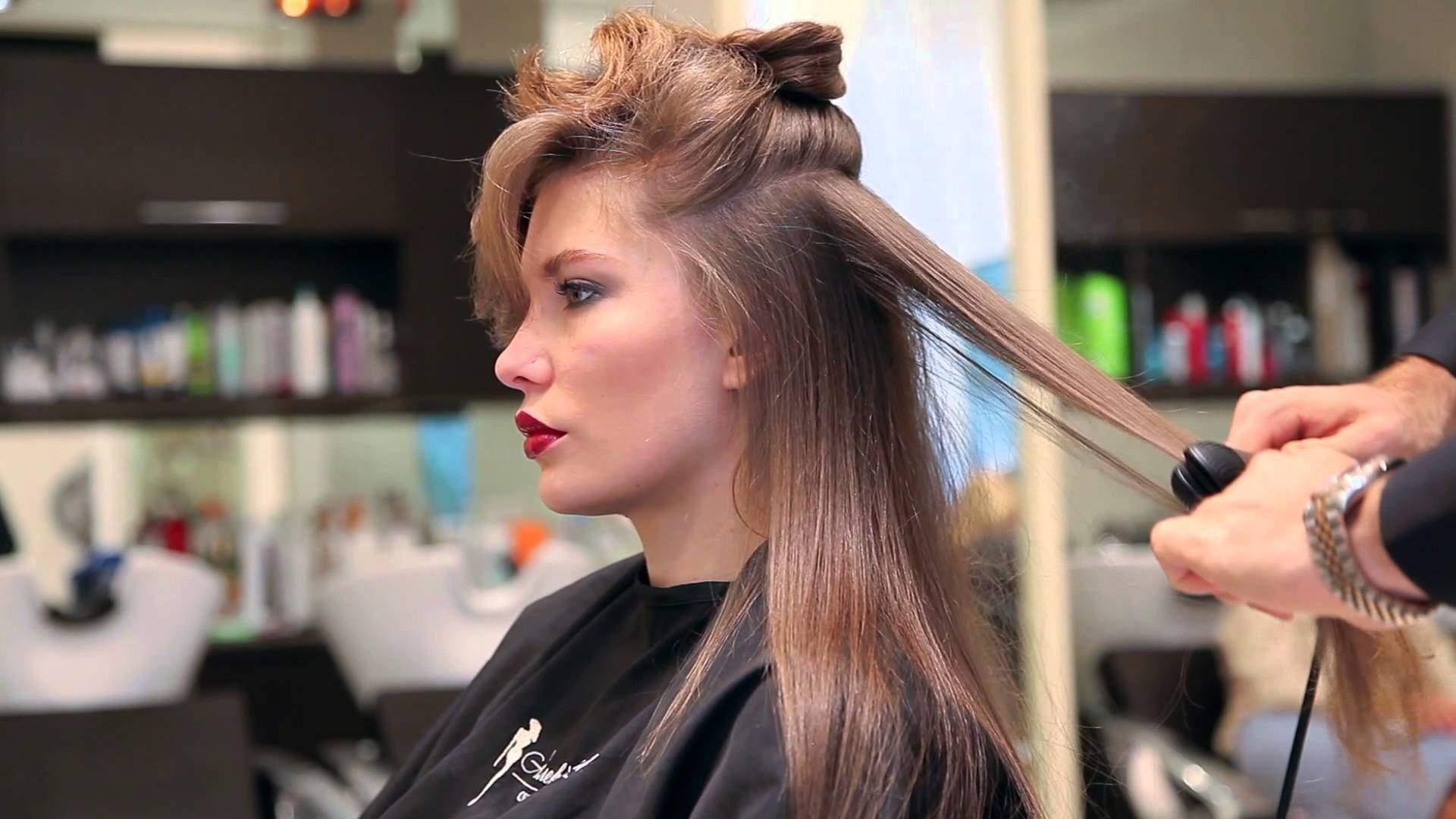 Укладки на длинные волосы вытягивание прядей